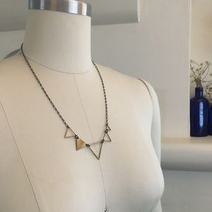 """Jewelry - Antique Brass Triangles necklace 20.5"""""""